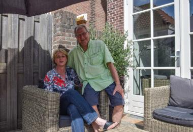 Paul en Ineke Tiel Groenestege op vakantie in Katwijk